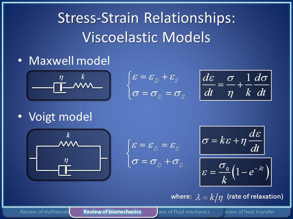 Stress-Strain Relationships: Viscoelastic Models