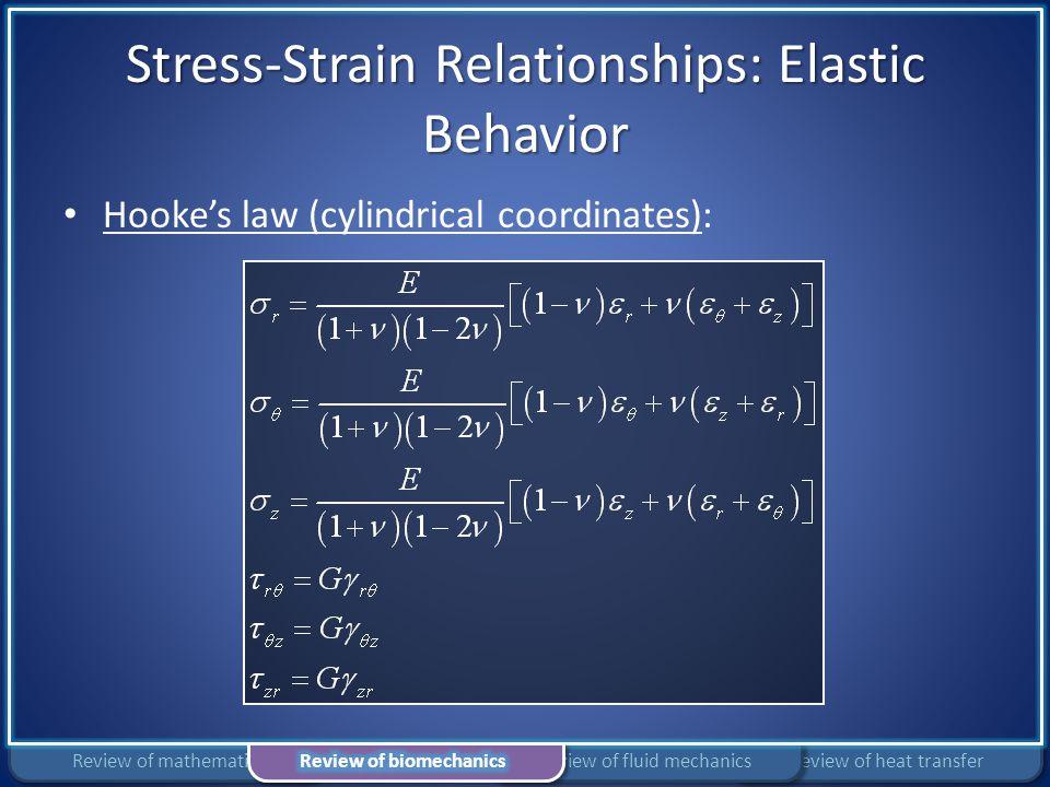 Stress-Strain Relationships: Elastic Behavior