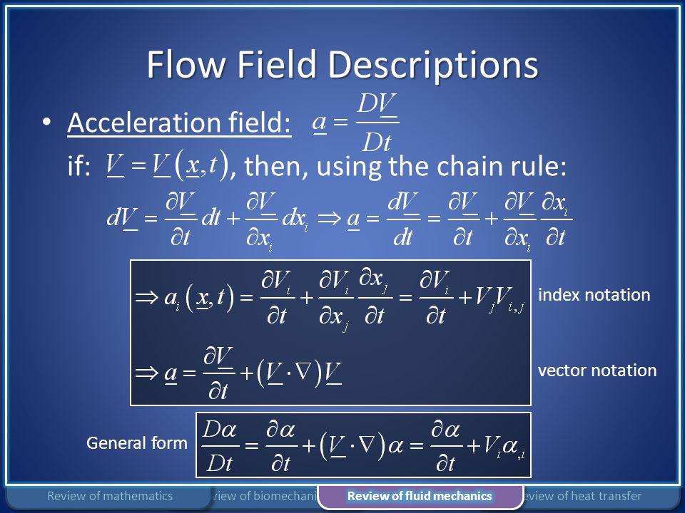 Flow Field Descriptions