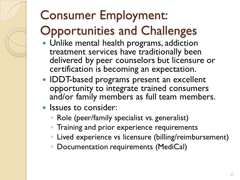 Consumer Employment: Opportunities and Challenges