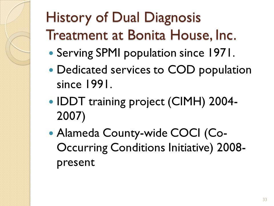 History of Dual Diagnosis Treatment at Bonita House, Inc.