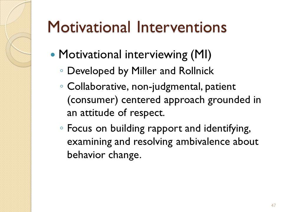 Motivational Interventions