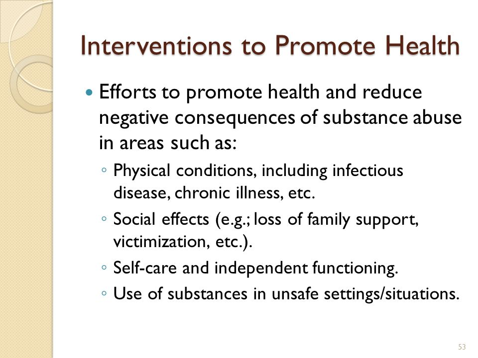 Interventions to Promote Health