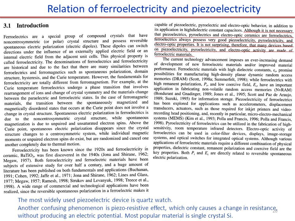 Relation of ferroelectricity and piezoelectricity