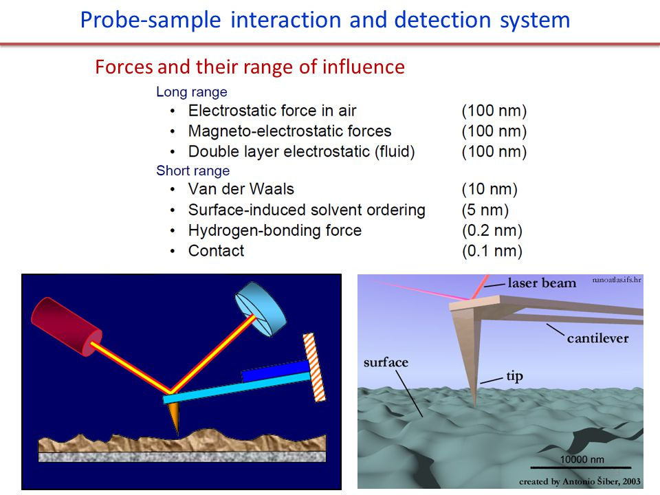 Probe-sample interaction and detection system