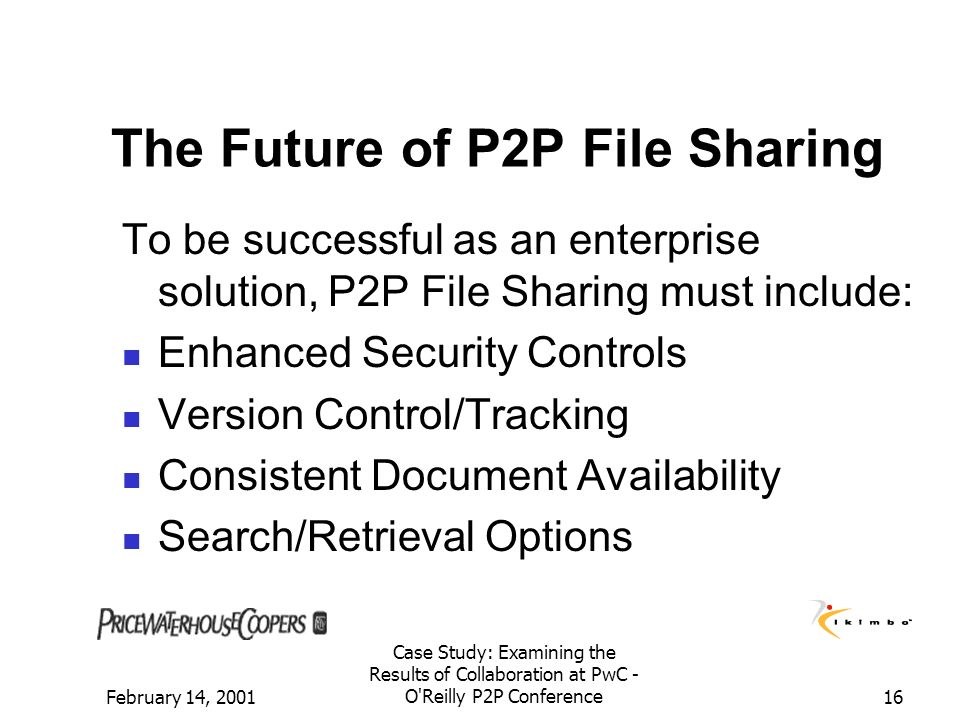 The Future of P2P File Sharing