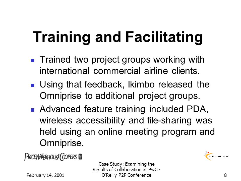 Training and Facilitating