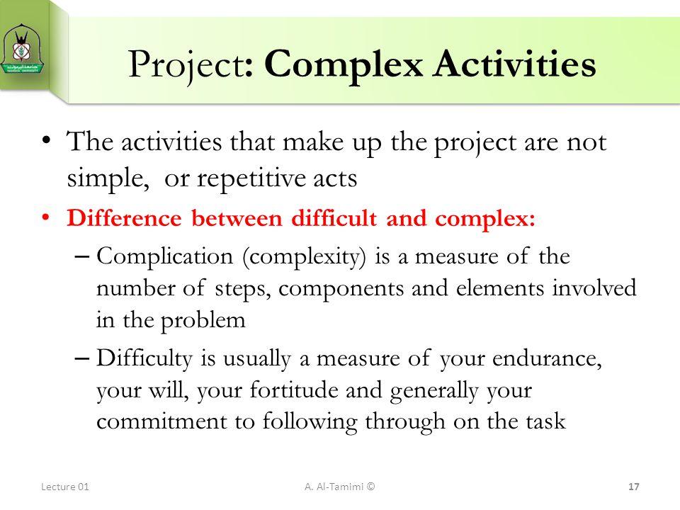 Project: Complex Activities