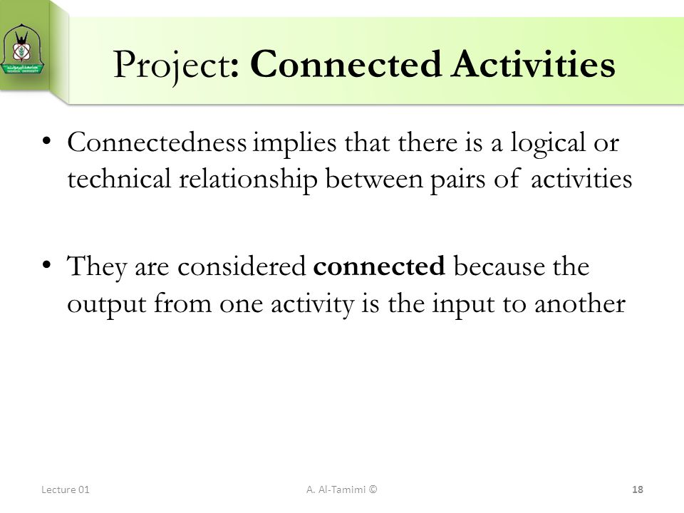 Project: Connected Activities