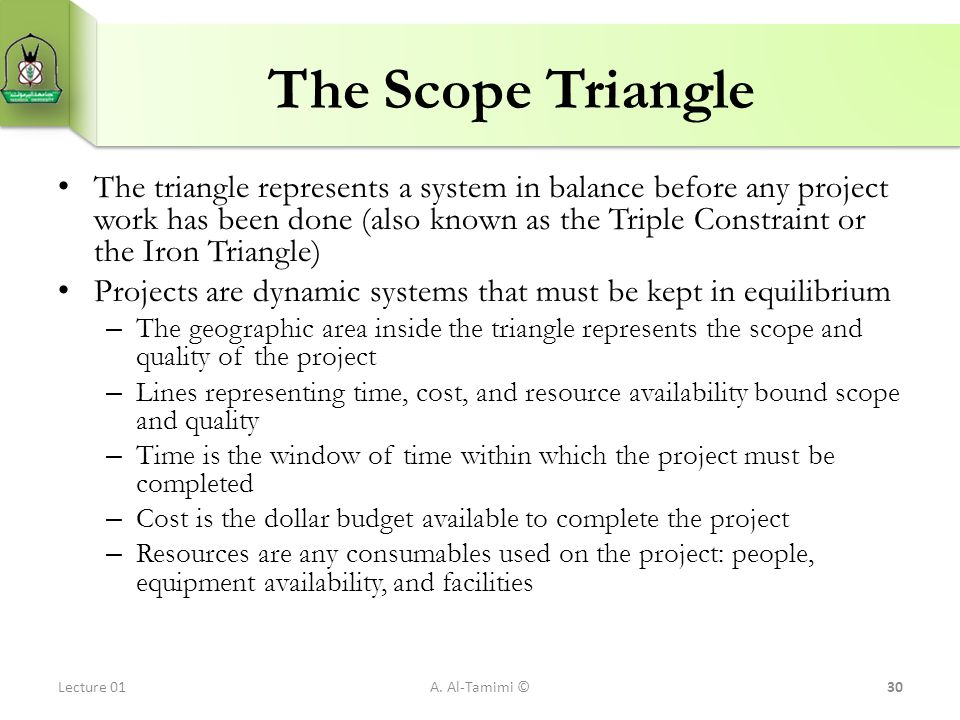 The Scope Triangle