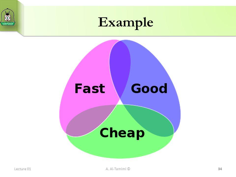Example Lecture 01 A. Al-Tamimi ©