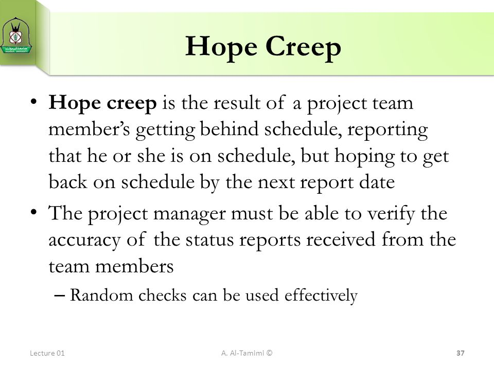 Hope Creep