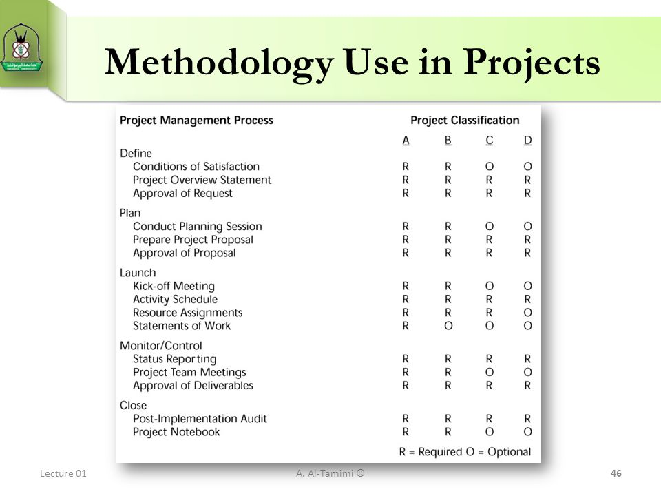 Methodology Use in Projects