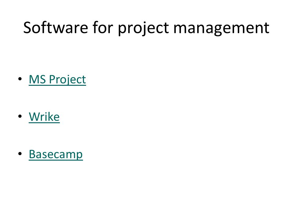 Software for project management