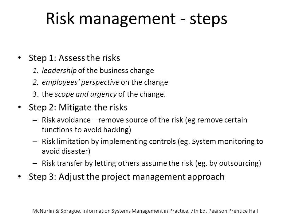 Risk management - steps
