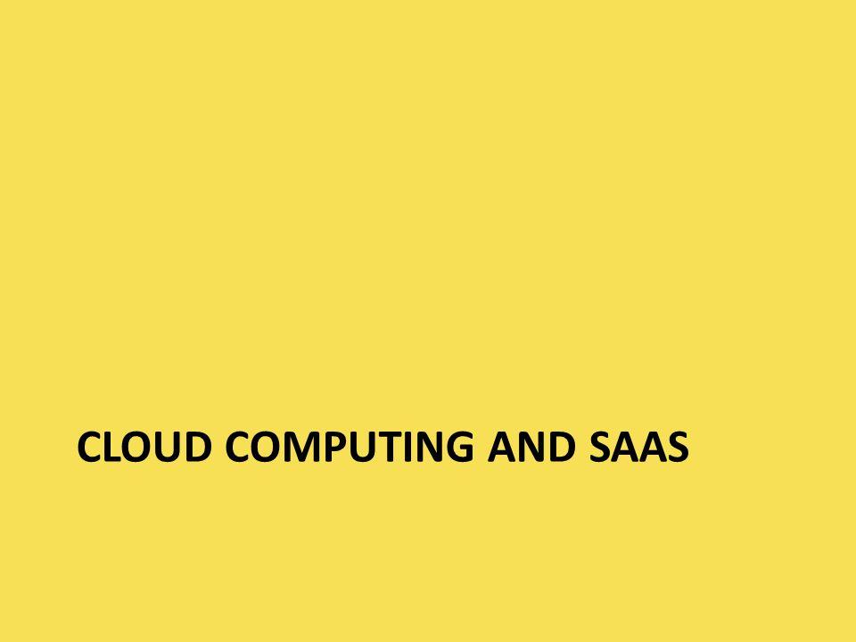 Cloud computing and saas