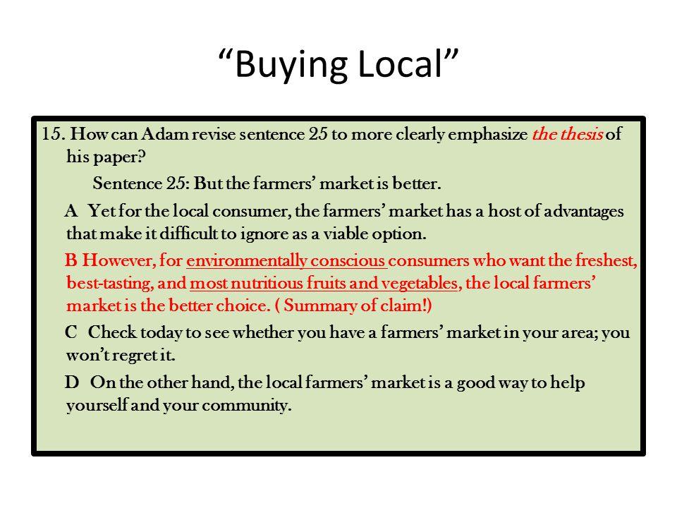 Buying Local