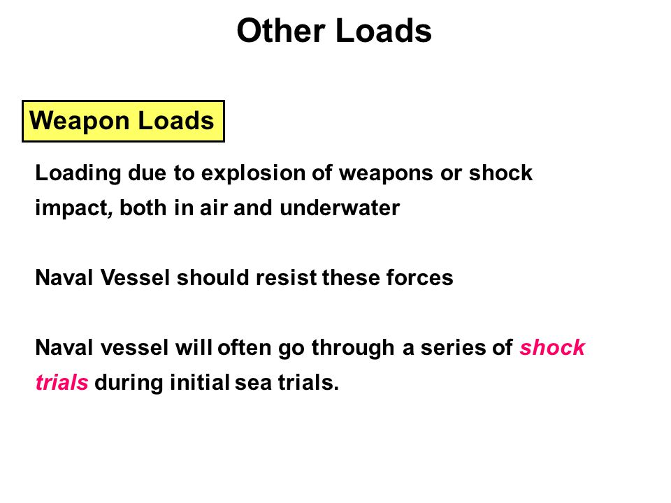 Other Loads Weapon Loads