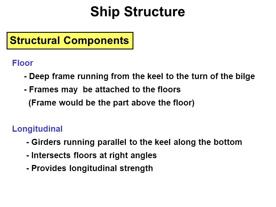Ship Structure Structural Components Floor