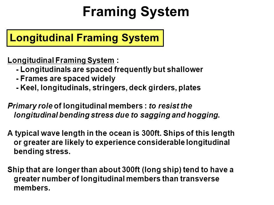 Framing System Longitudinal Framing System