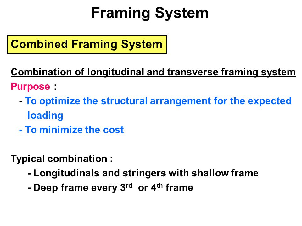 Framing System Combined Framing System