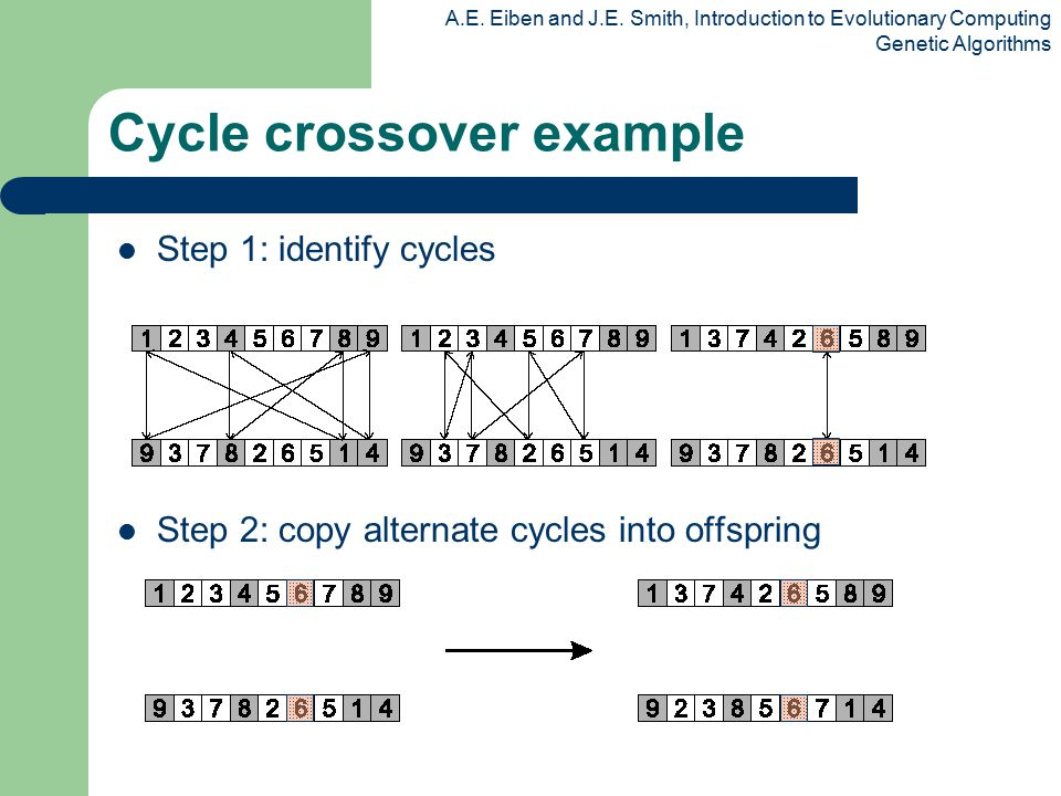 Cycle crossover example