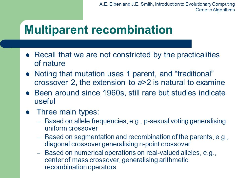 Multiparent recombination