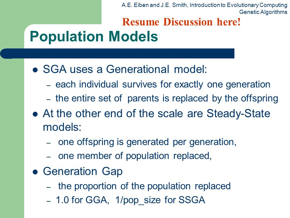 Population Models Resume Discussion here!