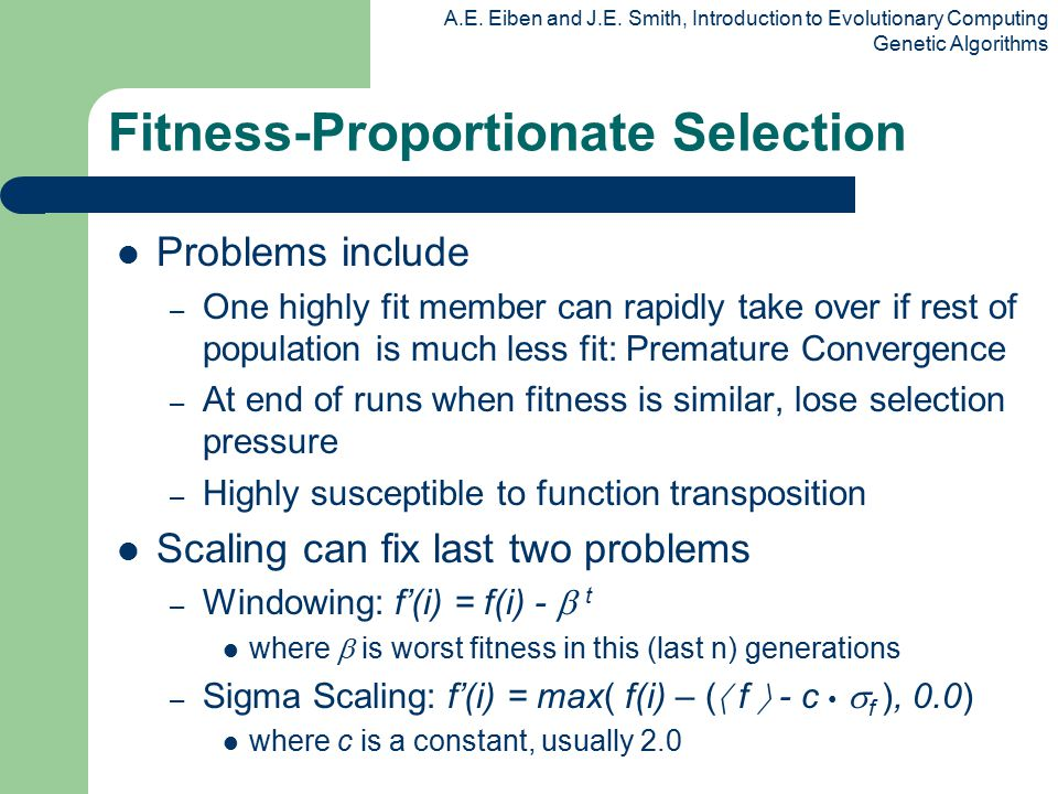 Fitness-Proportionate Selection