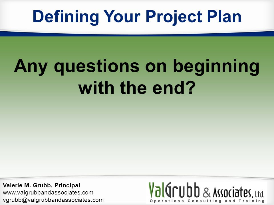 Defining Your Project Plan