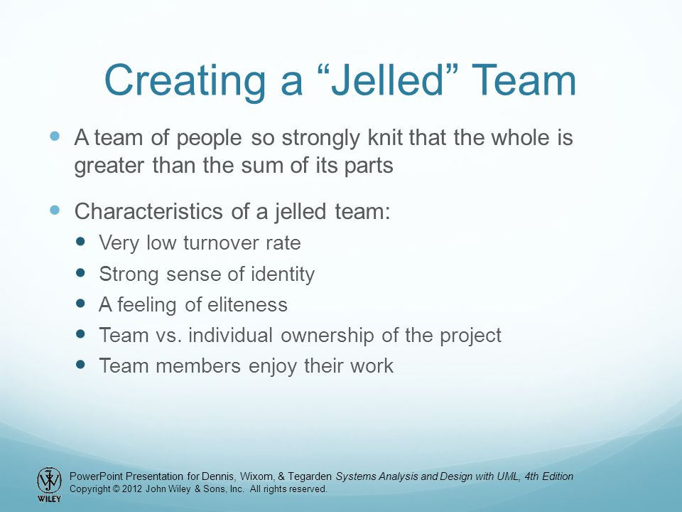 Creating a Jelled Team