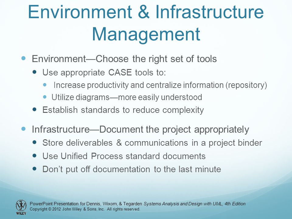 Environment & Infrastructure Management