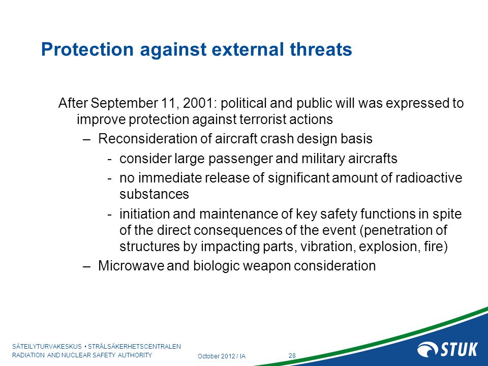 Protection against external threats