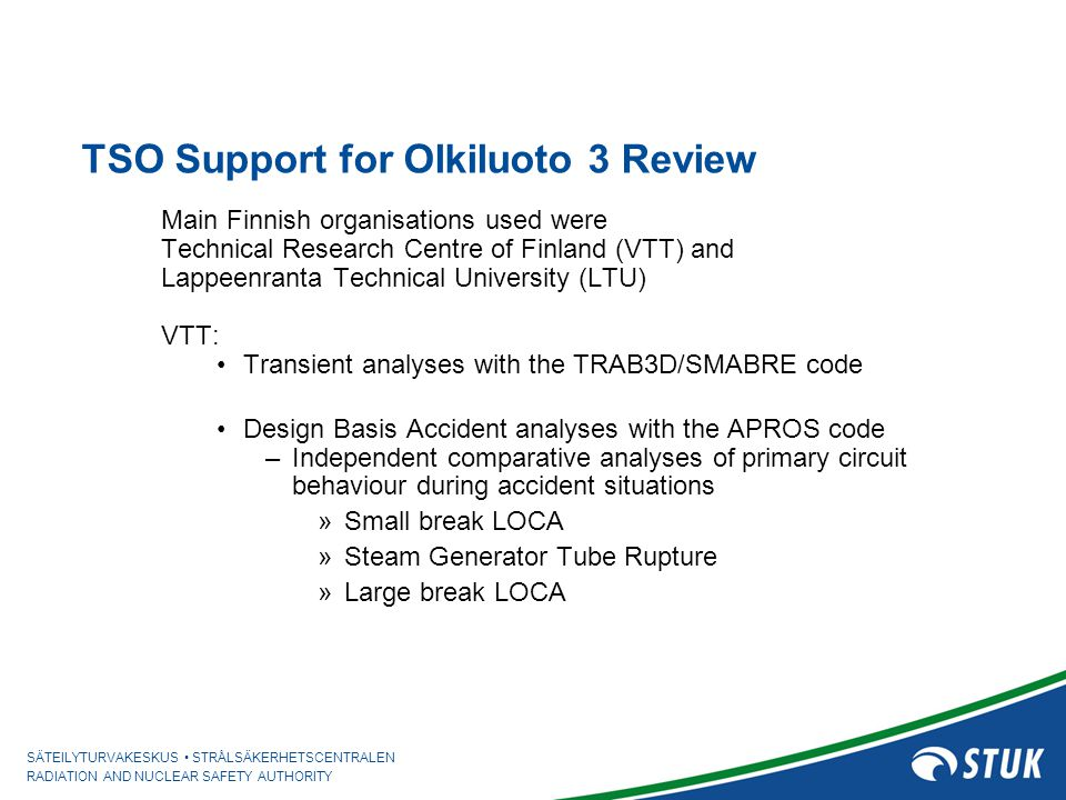 TSO Support for Olkiluoto 3 Review