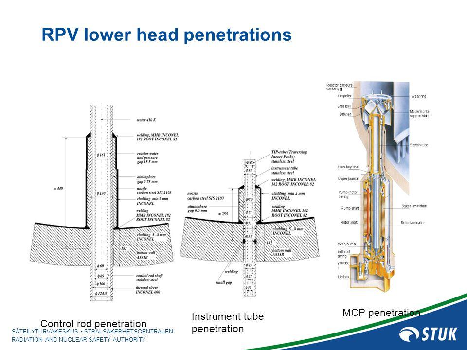 RPV lower head penetrations