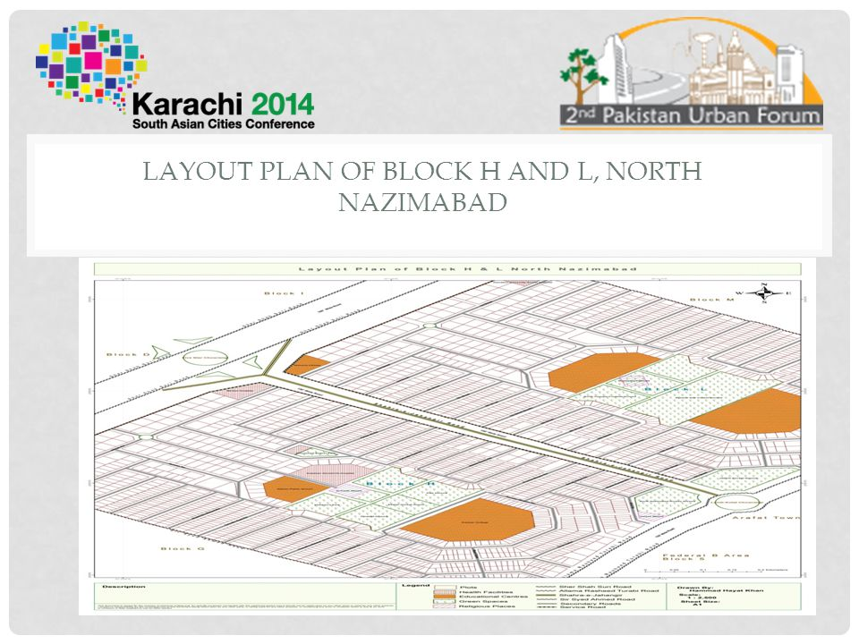 Layout plan of block h and l, north nazimabad