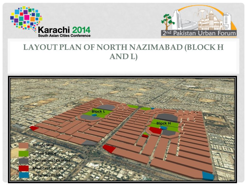 Layout Plan of North Nazimabad (Block H and L)