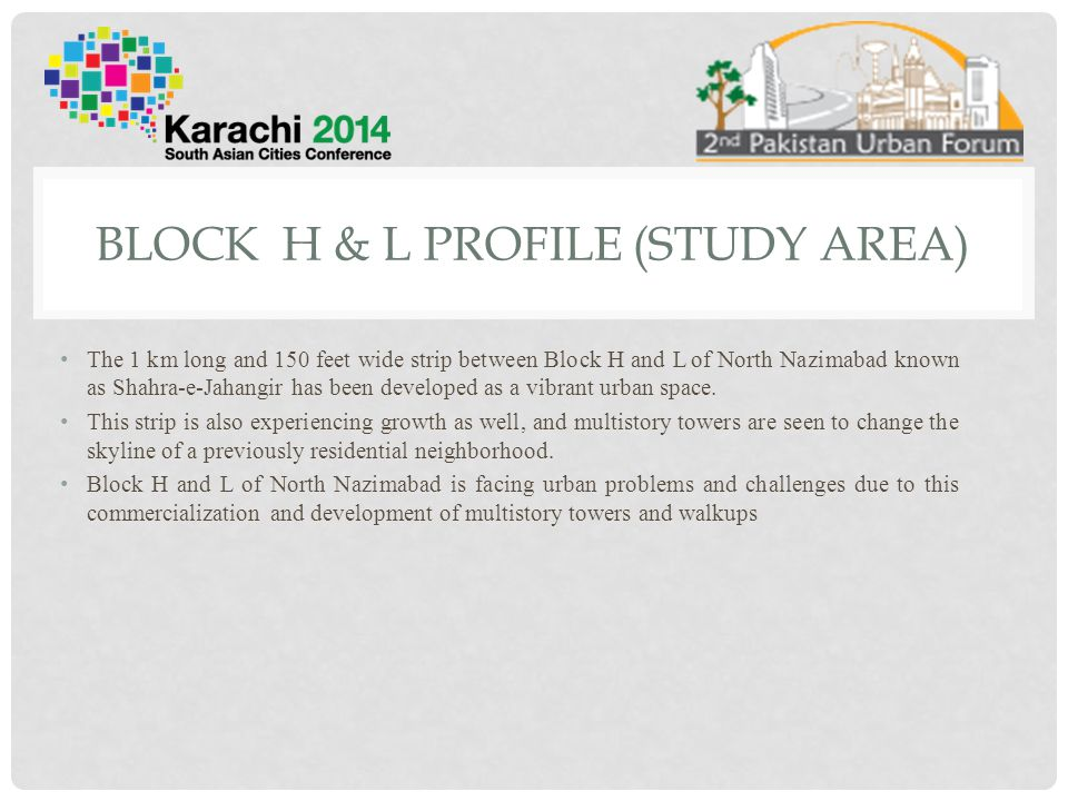 Block H & L Profile (Study Area)