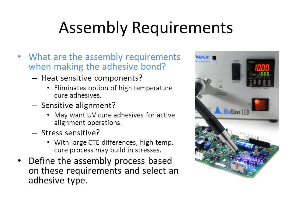 Assembly Requirements