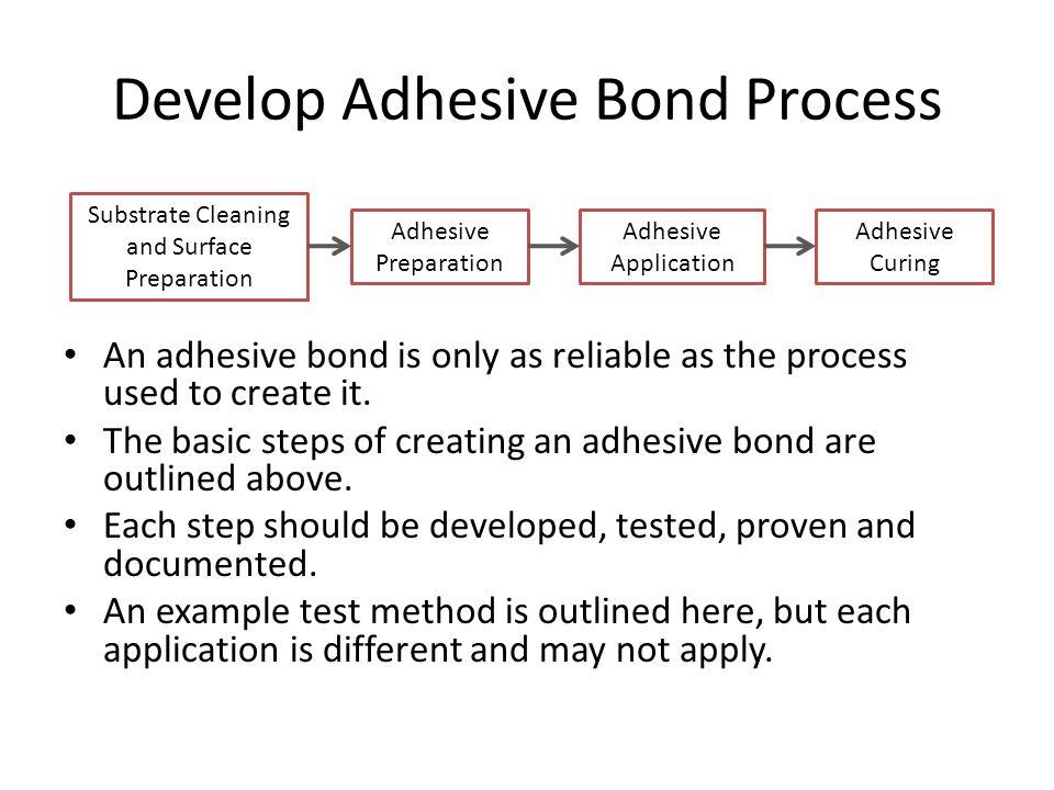 Develop Adhesive Bond Process