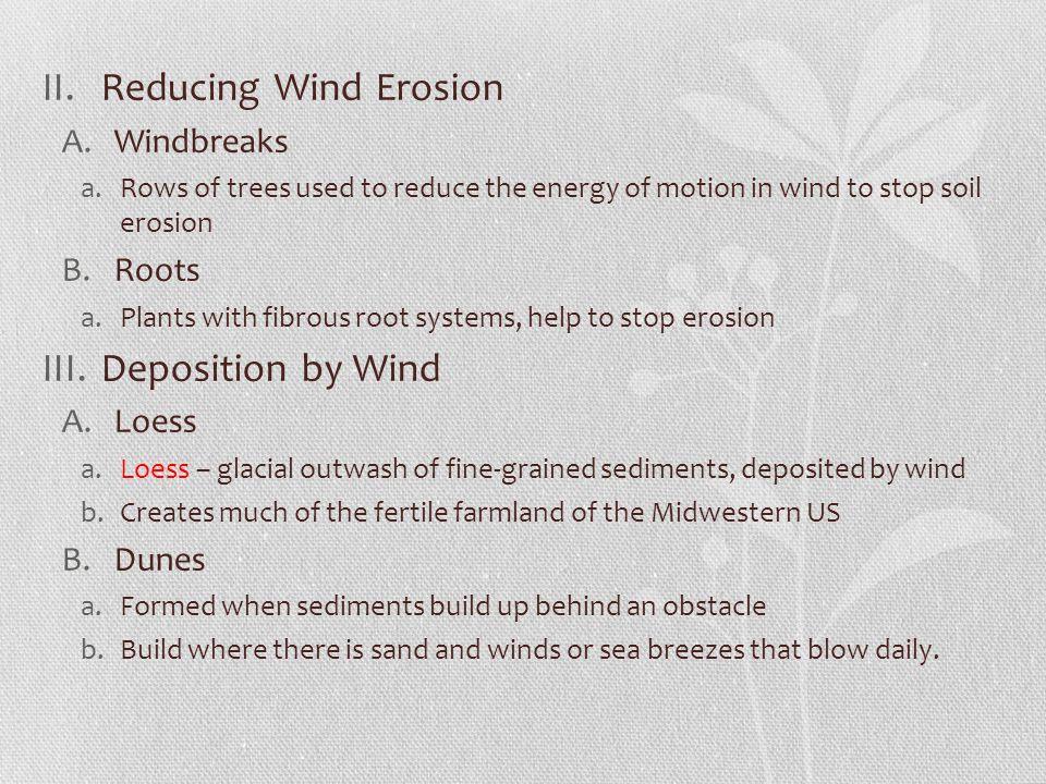 Reducing Wind Erosion Deposition by Wind Windbreaks Roots Loess Dunes
