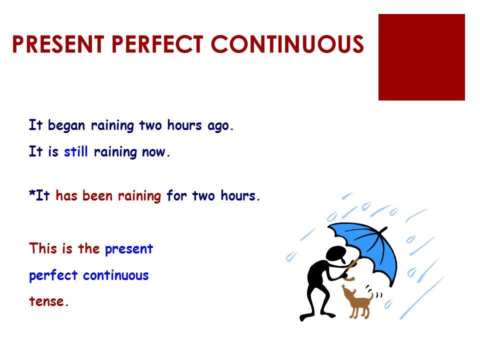 PRESENT PERFECT CONTINUOUS