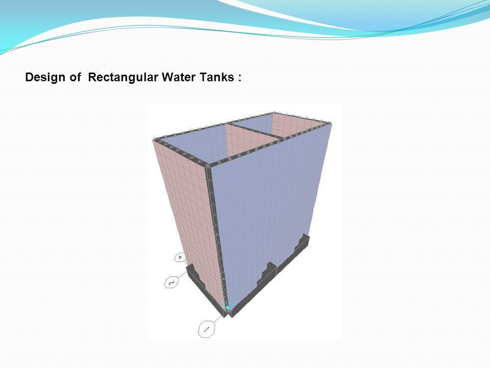 Design of Rectangular Water Tanks :