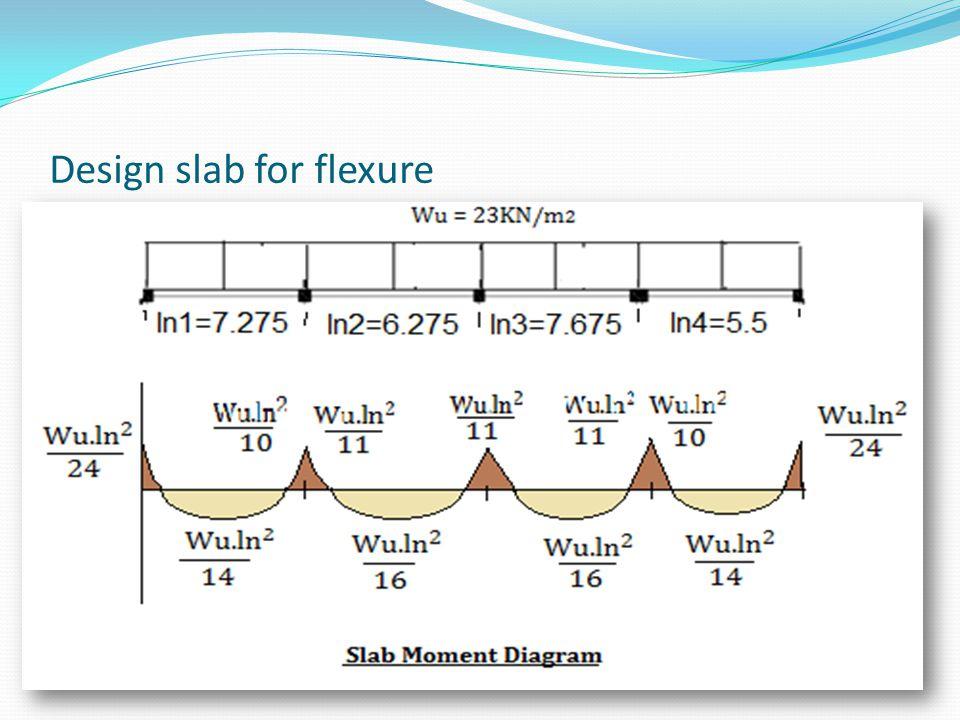 Design slab for flexure