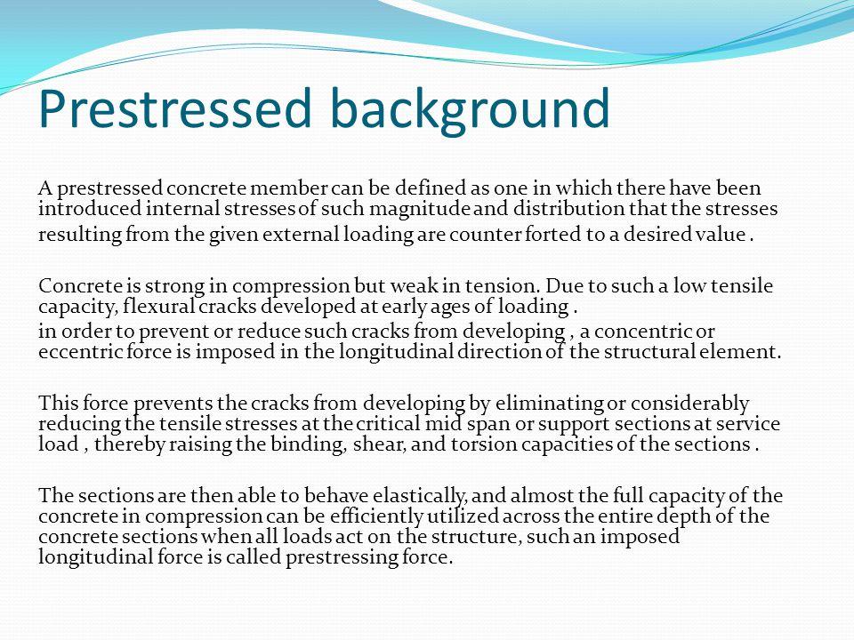 Prestressed background
