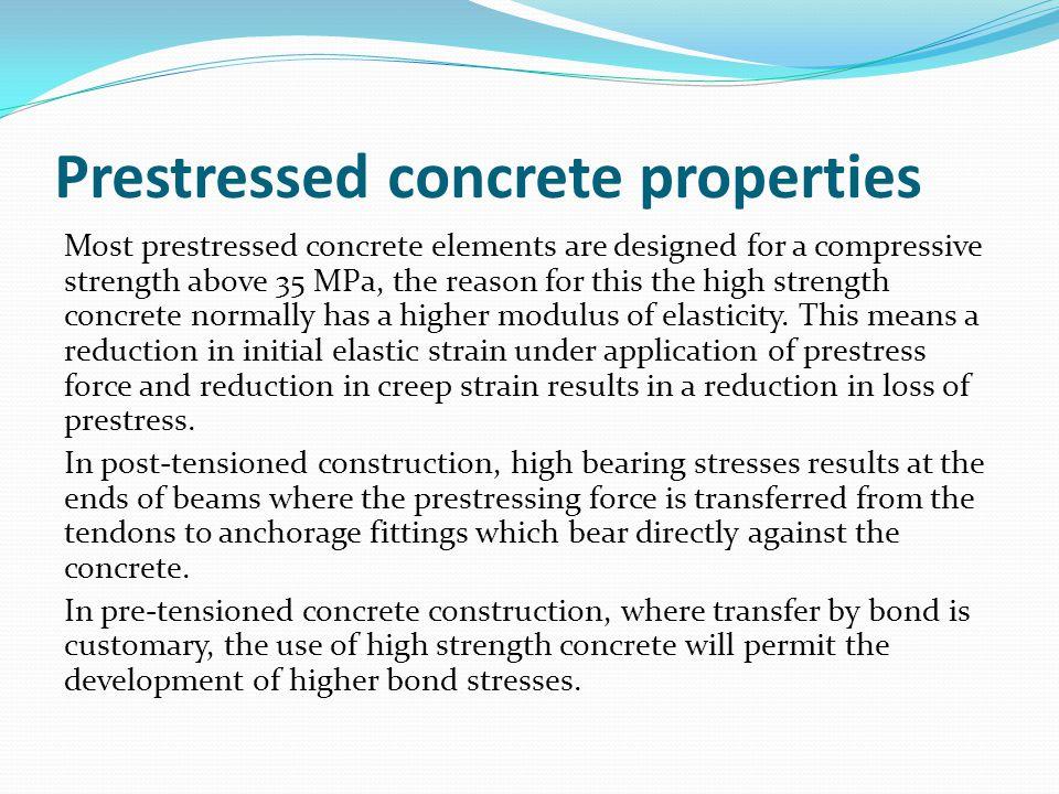 Prestressed concrete properties