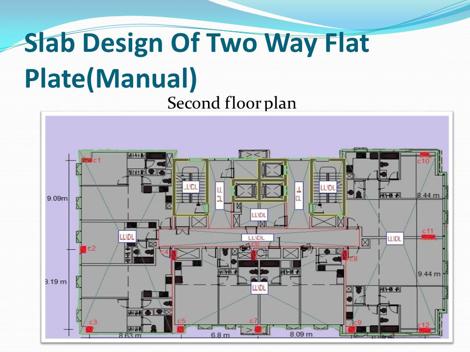 Slab Design Of Two Way Flat Plate(Manual)
