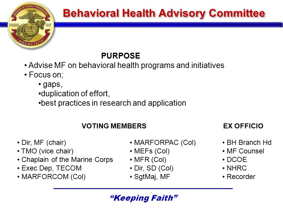 Behavioral Health Advisory Committee