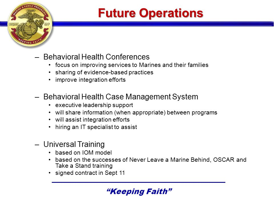 Future Operations Behavioral Health Conferences