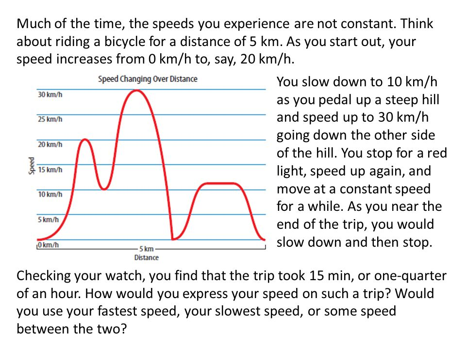 Much of the time, the speeds you experience are not constant